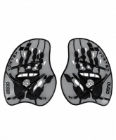лопатки arena vortex evolution hand paddle silver/black 95232 15, m