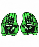 лопатки arena vortex evolution hand paddle, acid lime/black 95232 65, m